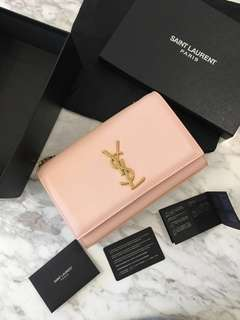 YSL Monogram Kate Gold Chain Leather Bag