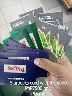 Starbucks card 10k deno