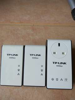 TP Link Powerline Adapter TL-PA511 (x2 units) and TL-WPA4230P (x1 unit)