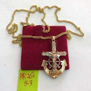 Saudi gold anchor pendant(unisex)