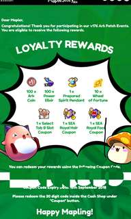 Maplesea Loyalty Rewards