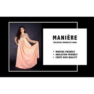 🚚 MANIÈRE EXCLUSIVELY Modern Cut JUBAH (Nude)