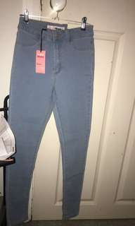 Blue denim jeans size 8 bnwt