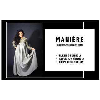🚚 MANIÈRE EXCLUSIVELY Modern Cut JUBAH (Dusty Grey)