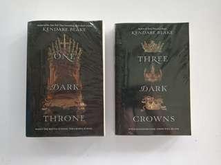 One Dark Throne & Three Dark Crowns - BOTH FOR 600