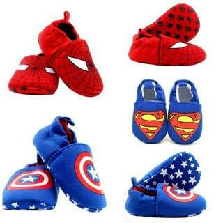 Shoes Slips on anti slip superman spiderman