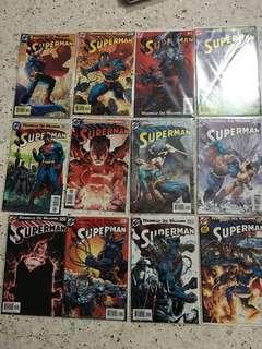Superman:For Tomorrow Comic Set #204-215 DC Comics Marvel Comics
