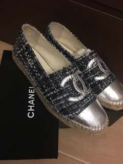 95%new chanel 草鞋 espadrilles shoes