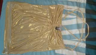 MNG tube top gold