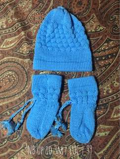 Crocheted bonnet and boots