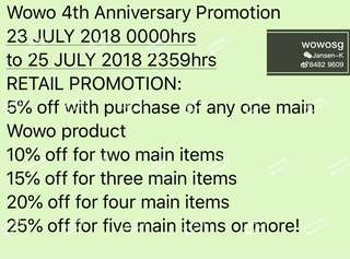 Wowo 4th Anniversary Promotion