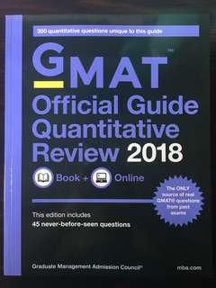 [全新] GMAT 2018 OG Official Guide Quantitative Review;MBA考試必備天書/數學部分