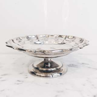 Vintage Silverplated Scalloped Candy Stand