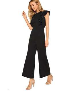 🚚 Black ruffle Jumpsuit. New arrival & in stocks. Sizes:S,M,L