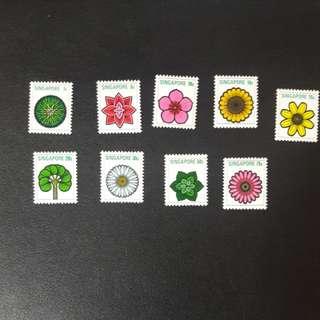 Singapore 1973 Flowers Definitives