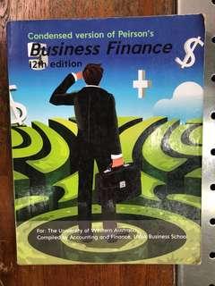 Business Finance for the University of Western Australia