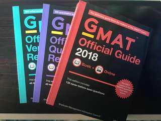 [全新] GMAT OG Official Guide 2018+Quantitative Review+Verbal Review 官方指南;MBA考試必備天書