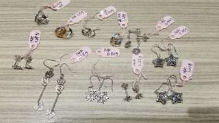 14K Italy Gold earrings x 11 pairs 耳環