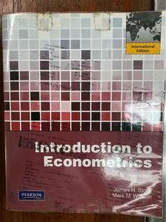 Introduction to Econometrics by JH Stock, MM Watson