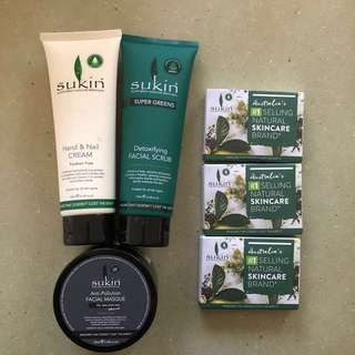 Sukin Products + 15 Samples
