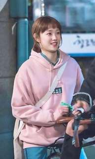 Weighlifting Fairy Kim Bok Joo Oversized Pink Hoodie/Sweater/Jacket