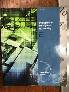 Principles of Managerial Accounting by Reece, Warren Duchac