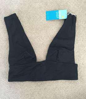 Black bikini top size 6