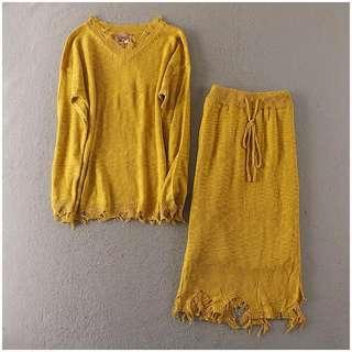 Knit set wear