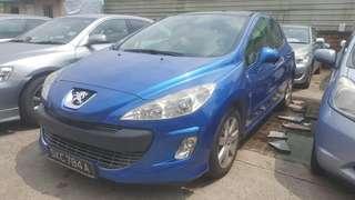 Peugeot 308 1.6 auto 🇸🇬 Glass Roof - RM 8000 siap Roadtax Msia 🇲🇾 Amik Jb - Boleh Halalkan Tiada Masalah✅