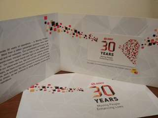 SMRT 30 years commemorative card