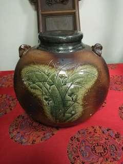 日本老陶錫口大茶倉