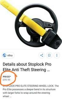 Stop Lock steering lock