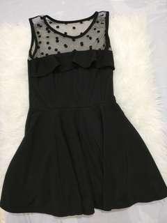 Polkadot Black Dress 💕