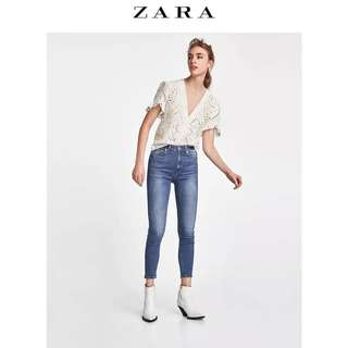 Zara 高腰牛仔褲 38碼(28碼)