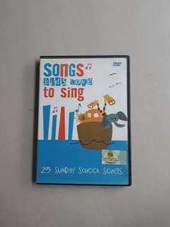 25 Sunday School Songs DVD. Songs kids love to sing