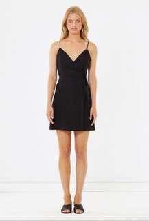 Cali black wrap dress Sz 8 - NWOT