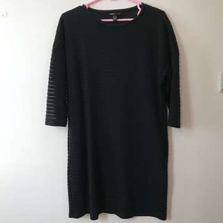 Black Striped Mango Dress