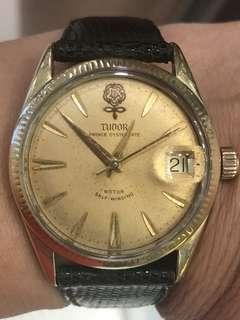 超罕原裝Tudor7965全自動金套手錶