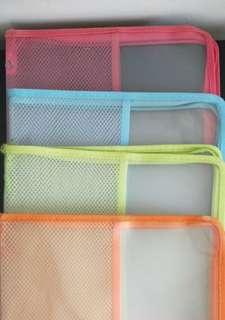 Colourful foldable transparent files