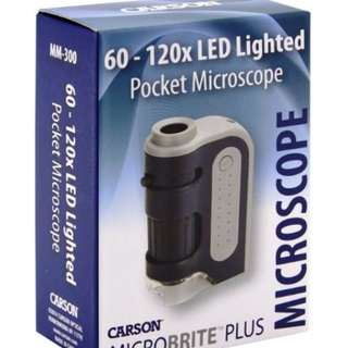 Carson 60X-120X MicroBrite Plus LED Pocket Microscope MM-300