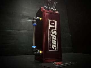 D1 SPEC 0.7L 10mm Square Red Billet Aluminum Engine Oil Catch Tank Can Reservoir