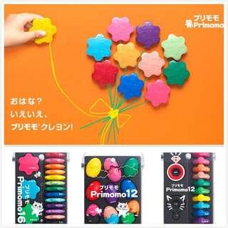 Primomo Flower Non-Toxic Crayons (12 colours)
