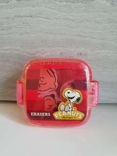 Peanuts Erasers