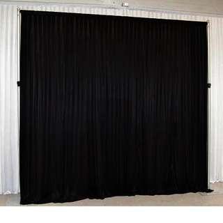 [Rent] Black curtains backdrop