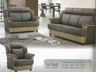 sofa set ansuran bulanan , harga bulanan rendah - N968