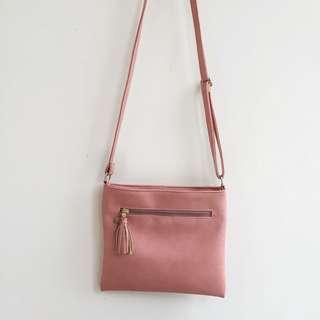 Leather Pink Crossbody