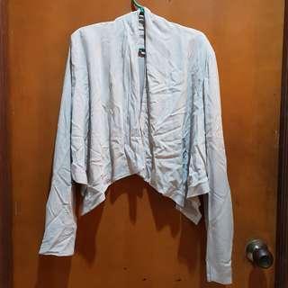 Gray cardigan/blazer