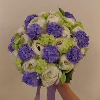 紫色結婚花球