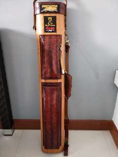 J Flower Leather Pool Cue Case
