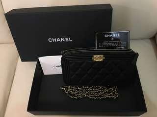 全新Boy Chanel Clutch on Chain (full packing, 不議價)